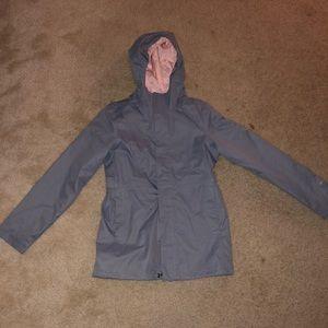 Girls North Face Rain Coat